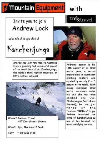andrew lock mountain kanchenjunga public speaking flyer 2006