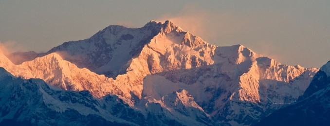 3rd highest mountain Kanchenjunga from India